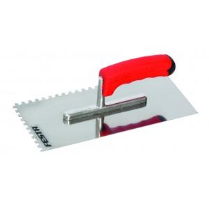 Hladítko Profi, 280 x 130 mm, zub 4 mm, nerez/gumová rukojeť, F31141