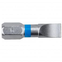 Standartní bit s plochou drážkou, PL 6 x 25 mm, Blue, SUPER LOCK, 2 ks, Narex, 65404481