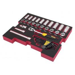 "Modul do Fatmax boxů TSTAK s nářadím 3/8"", 38 ks, FatMax, Stanley, FMHT0-74296"