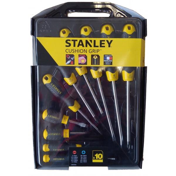 Sada šroubováků, 10-dílná, CushionGrip, PL+PH, Stanley, 2-65-005