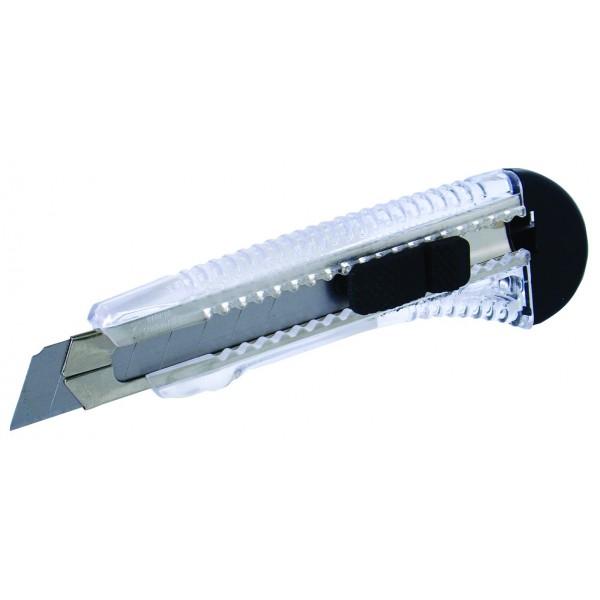 Odlamovací nůž, 18 mm, aretace, vodítko, hobby, 16026, ONP18