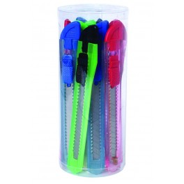 Sada odlamovacích nožů, 9 mm, 12 ks, různé barvy, COL1