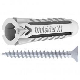 Univerzální hmoždinka, X1, s vrutem,  5 x 25 mm, Friulsider X1-5V