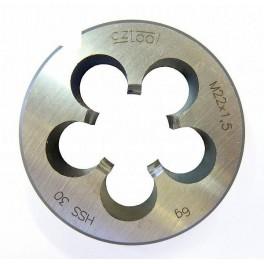 Závitová kruhová čelist, DIN EN 22 568, metrický závit, M 16, lícování 6G, HSS, OM16, OM16HSS