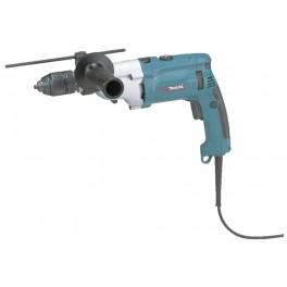 Elektrická příklepová vrtačka, 1010 W, 2-rychlostní, rychlosklíčidlo, systainer, Makita HP2071J
