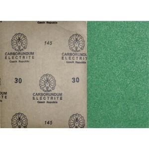 Brusný papír zelený, 230 x 280 mm, zrno 30, ZE30