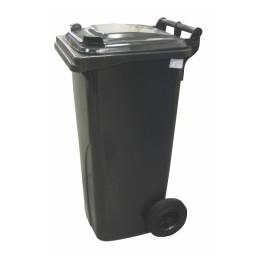 Nádoba na odpad, plastová, barva černá, 120l, POP120CER