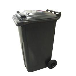 Nádoba na odpad, plastová, barva černá, 240l, POP240CER