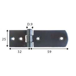 Pant černý, 25 x 32 - 25 x 59 mm, pravý, SP1449
