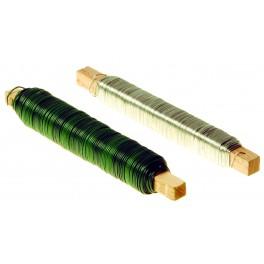 Vázací drát, 0.65 mm, 0.55 mm x 30 m, PVC bužírka, zelený, 42201