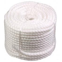 Silonové lano 8 mm x 50 m, bílé, F51050
