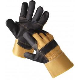 Rukavice kombinované, žlutočerné, velikost 10.5, ORIOLE, RUKZLCER