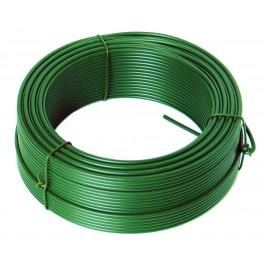 Napínací drát, 3.4 mm x 78 m, zelený, poplastovaný, F42257