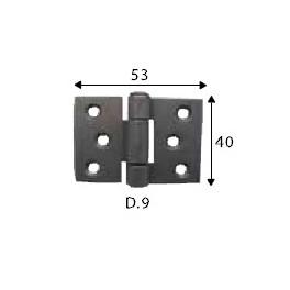 Pant černý, 40 x 53 mm, SP1454