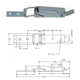 Bednový uzávěr, 23 mm, uzamykatelný, SP1510