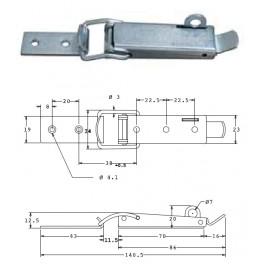 Bednový uzávěr, 19 mm, uzamykatelný, SP1495