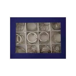 Set kroužků na klíče, 72 ks, SP799