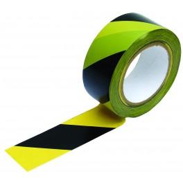 Varovací páska samolepící, 33 m, černá-žlutá, F38947