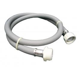 Pračková hadice napouštěcí, rovná - rovná, matka - šroub, 200 cm, PHNRRFM200
