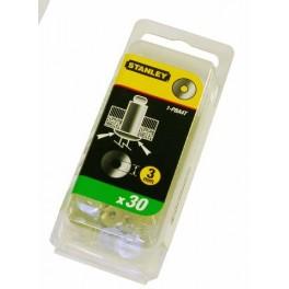 Hliníkové podložky pod trhací nýty, 4,7 mm, 3/16, 30 ks, Stanley, 1-PBA6T