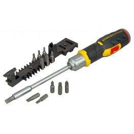 Ráčnový šroubovák s pistolovou rukojetí s 12 bity, FatMax®, Stanley, FMHT0-62691