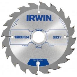 Pilový kotouč s SK plátkem, 160x20 mm, 24 zubů, pro ruční kotoučové pily, Irwin, I160/24