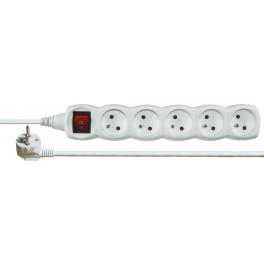 Prodlužovací kabel, 5 zásuvek, délka kabelu 7,0 m, vypínač, PROD5Z-7