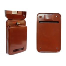 Poštovní schránka EBAS, hnědá, 350x215x45 mm, 040002