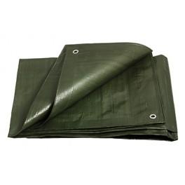 Zakrývací plachta, zeleno-zelená, 3x5 m, 200 g, silná, PLS3X5Z