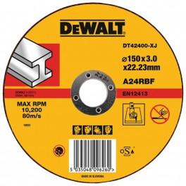 Řezný kotouč na kov, 150 x 22,2 x 3,0 mm, plochý, Typ 1, DeWalt, DT42400