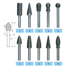 Rotační pilník, silný, č. 1, 28621712 0701, Ajax, ARPSIL1