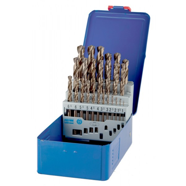Sada vrtáků HSS Cobalt, 25-dílná, v kovové krabičce 1.0-13.00 mm, Irwin, 10503730