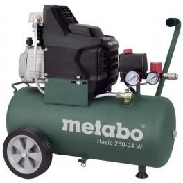 Olejový kompresor, 8 bar, 24 litrů, Metabo, BASIC250-24W