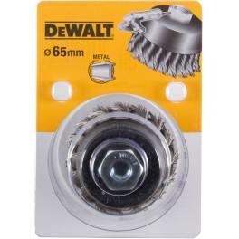 Drátěný kartáč, hrnkový, 65 mm, drát 18 mm, M14, copanový, DeWalt, DT3500