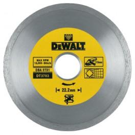 Diamantový kotouč, 125 x 22.2 mm, celoobvodový, pro suché řezání tvrdých materiálů, DeWalt, DT3713