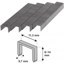 Spony do sponkovačky, typ R53, 1000 ks, 6 mm, Dedra, 11Z106