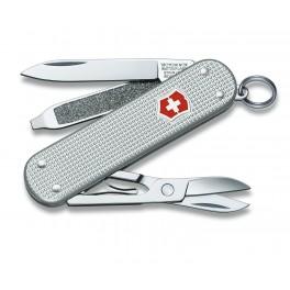 Kapesní nůž, Victorinox Classic, stříbrný alox, 0.6221.26