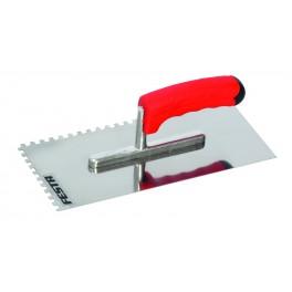 Hladítko nerezové, 270 x 125 mm, zub 6 mm, F31007
