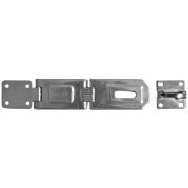 Petlice dvojdílná, 160 mm, s očkem, bílý zinek, 021957