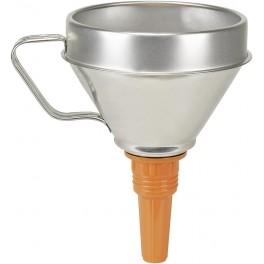 Trychtýř plechový, 1.3 l, 160 mm, plastová výpusť, Pressol, PR02342