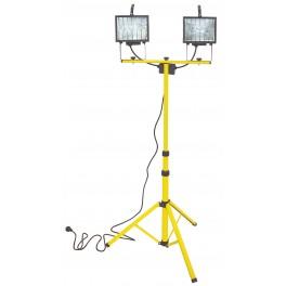 Stavební halogenové světlo, 2 x 500 W, teleskopický stojan, F37603