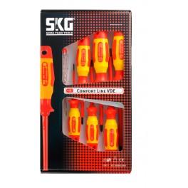 Sada elektrikářských šroubováků, 7-dílná, VDE, Profi Comfort Line, SKG Tools, 1124453