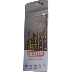 Sada titan.vrtáků 4-9mm+frez.6, KWSSET10