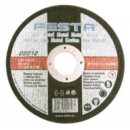 Řezný kotouč na kov, 125x1.6x22.2 mm, Festa, F22252