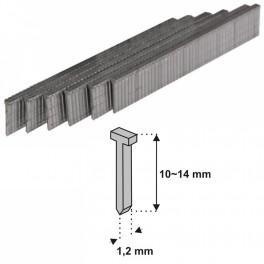 Hřebíčky, tvar T, 10 x 1,2 mm, 1000 ks, 11Z310