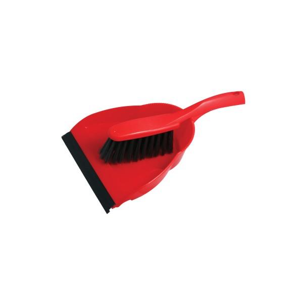 Smetáček + lopatka, s gumovou lištou, F52168