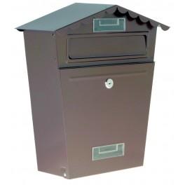 Poštovní schránka, hnědá, 290 x 360 x 105 mm, P70100