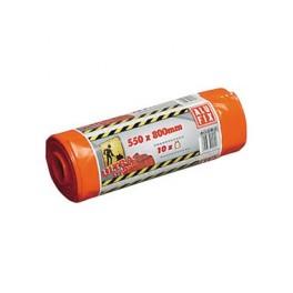 Pytle na odpadky, 10 ks, 55 x 80 cm, 60 l, extra silné, oranžové, 1187488