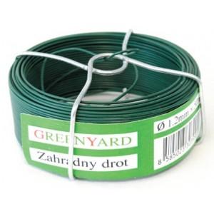 Drát vázací, 0,8 mm, 75 m, zelený, PVC, 431122