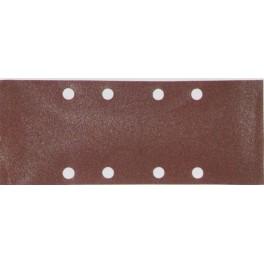 Brusný papír, 93 x 228 mm, zrno 80, 8 otvorů, 10 ks, Makita, P-31859